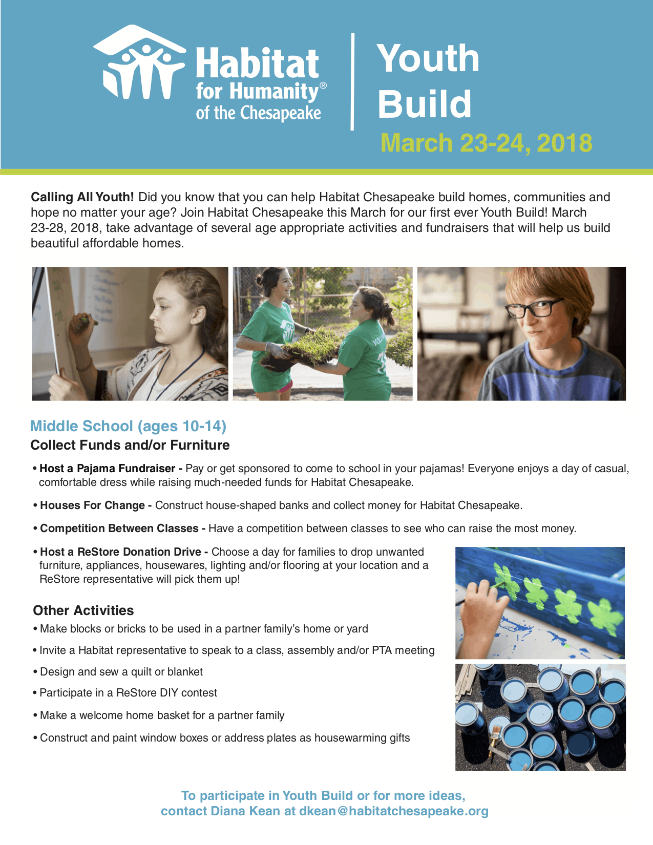 Youth Build Middle School Fact Sheet